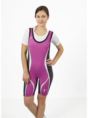 Комбинезон для пауэрлифтинга и фитнеса CROSS sport. Цвет: фуксия