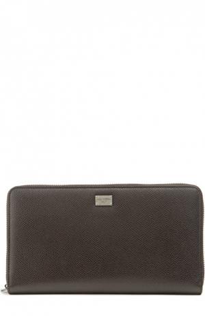 Футляр для документов Dolce & Gabbana. Цвет: темно-коричневый