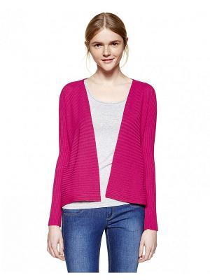 Кардиган United Colors of Benetton. Цвет: малиновый, розовый