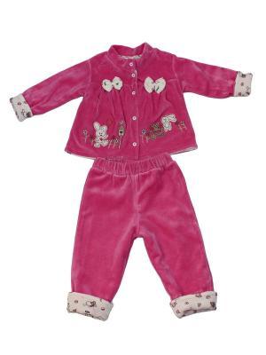 Комплект (жакет , брюки) KIDAXI. Цвет: розовый