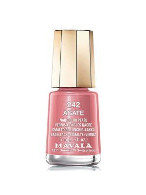 Лак для ногтей тон 242 Agate Mavala. Цвет: коричневый