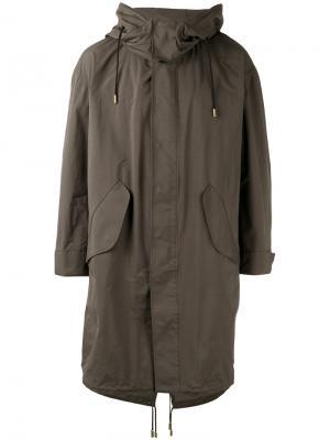 Пальто с капюшоном The Reracs. Цвет: зелёный