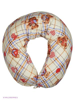 Подушка для беременных и кормящих Здоровье комфорт. Цвет: светло-коричневый