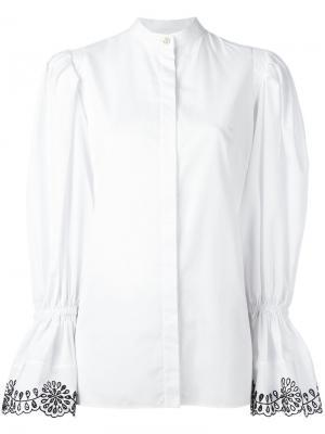 Рубашка с расклешенными рукавами Alexander McQueen. Цвет: белый
