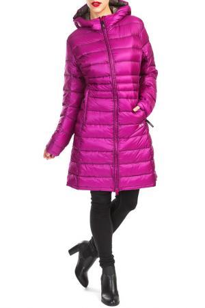 Пальто YETI. Цвет: фиолетовый