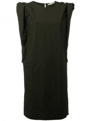 Платье шифт Daha Damir Doma. Цвет: зелёный