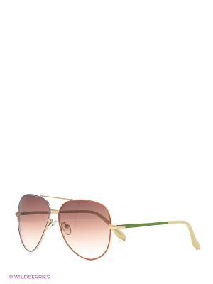 Солнцезащитные очки Mascotte. Цвет: фиолетовый, коралловый, золотистый