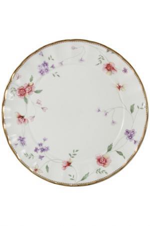 Набор из 2-х десертных тарелок Colombo. Цвет: белый