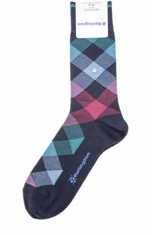 Шерстяные носки Newcastle Burlington. Цвет: темно-синий