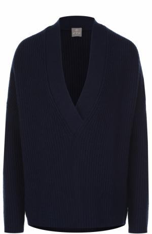 Кашемировый пуловер свободного кроя FTC. Цвет: темно-синий