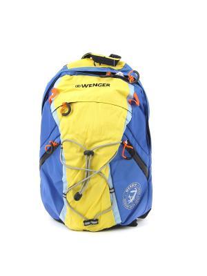 Рюкзак WENGER. Цвет: синий, желтый