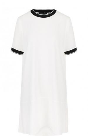 Однотонное мини-платье свободного кроя Rag&Bone. Цвет: белый