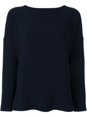 Блузка с длинными рукавами Alberto Biani. Цвет: синий