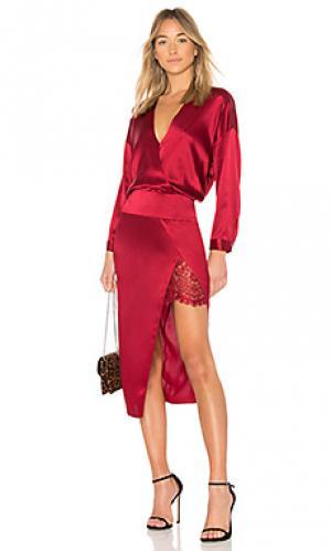 Платье миди obi Michelle Mason. Цвет: красный
