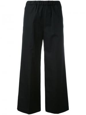 Укороченные расклешенные брюки Aspesi. Цвет: чёрный