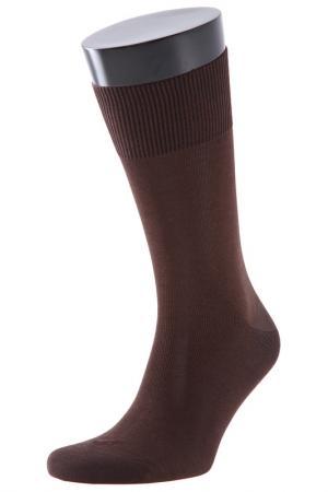 Носки TELLER. Цвет: коричневый