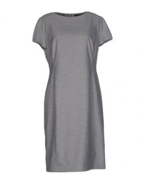 Платье до колена BARBARA SCHWARZER. Цвет: светло-серый