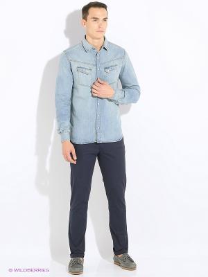 Рубашка DAVID7 MANGO MAN. Цвет: синий