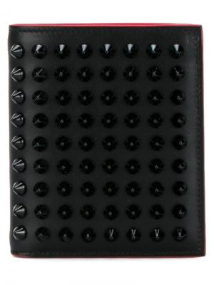 Кошелек с отделкой шипами Christian Louboutin. Цвет: чёрный