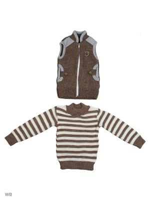 Комплекты одежды для малышей Babycollection. Цвет: коричневый, серый