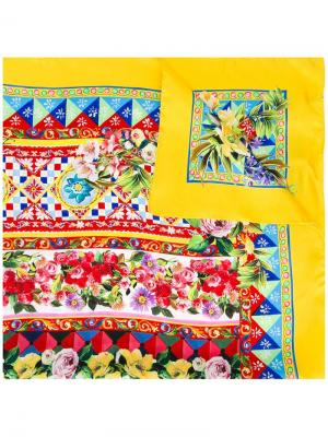 Платок с узором Mambo Dolce & Gabbana. Цвет: многоцветный