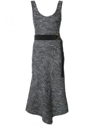 Платье Harris с V-образным вырезом Rebecca Vallance. Цвет: чёрный