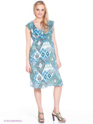 Платье для беременных 40 недель. Цвет: голубой, белый, бирюзовый, оливковый