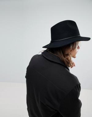 Brixton Мягкая фетровая шляпа черного цвета. Цвет: черный