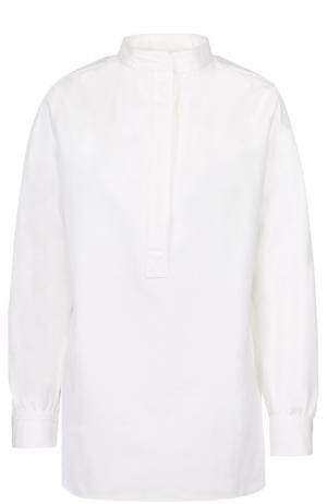 Блуза прямого кроя с воротником-стойкой Atlantique Ascoli. Цвет: белый