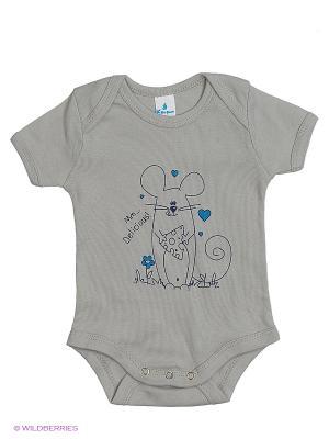 Пижама ясельная MN0101 04 цвет серый, мышонок Квирит. Цвет: серый