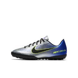 Футбольные бутсы для игры на искусственном газоне дошкольников/школьников  Jr. MercurialX Victory VI Neymar Nike. Цвет: серый