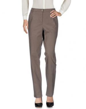 Повседневные брюки LE TRICOT PERUGIA. Цвет: голубиный серый