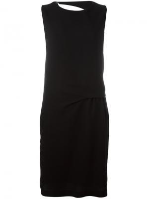 Платье с разрезом на спине 8pm. Цвет: чёрный