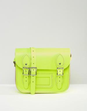 Leather Satchel Company Маленькая сумка‑сэтчел. Цвет: желтый