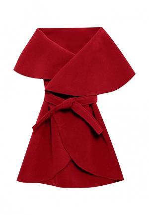 Пончо Magwear. Цвет: красный