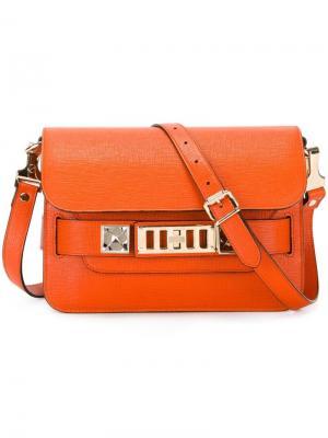 Мини сумка на плечо PS11 Proenza Schouler. Цвет: жёлтый и оранжевый