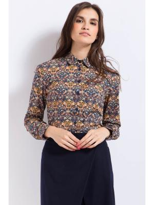 Рубашка Finn Flare. Цвет: коричневый