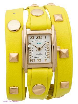Часы La Mer Collections. Цвет: салатовый, золотистый