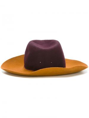Фетровая шляпа колор-блок Forte. Цвет: телесный