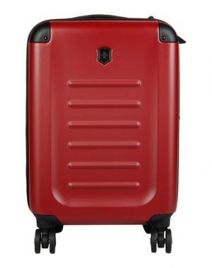 Чемодан/сумка на колесиках VICTORINOX. Цвет: красно-коричневый