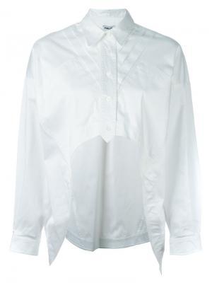 Рубашка с неравномерным подолом Opening Ceremony. Цвет: белый