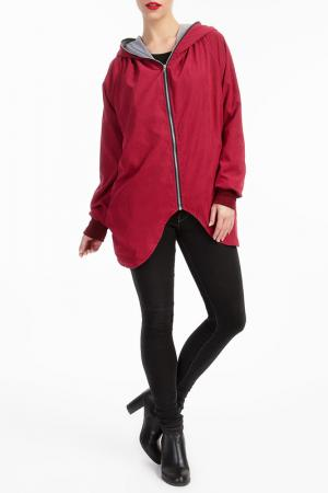 Куртка LESARA. Цвет: красный