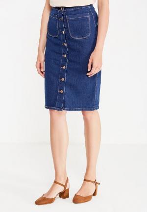 Юбка джинсовая Modis. Цвет: синий
