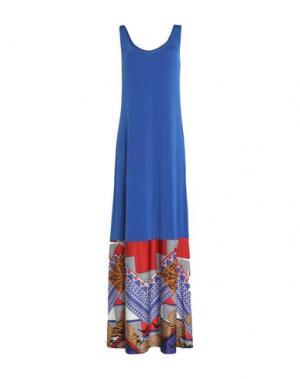 Длинное платье F**K PROJECT. Цвет: синий