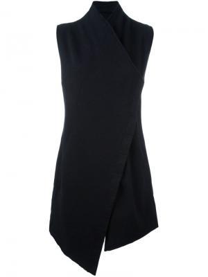 Пальто асимметричного кроя Thom Krom. Цвет: чёрный