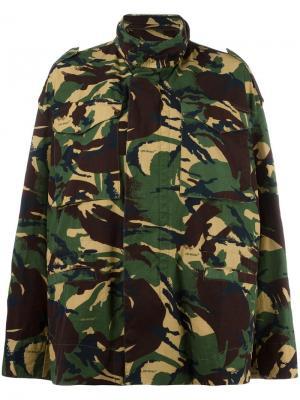 Куртка с камуфляжным узором Off-White. Цвет: зелёный
