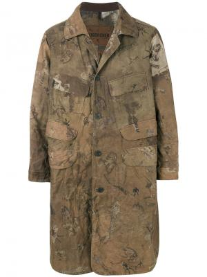 Пальто в стиле милитари Ziggy Chen. Цвет: зелёный