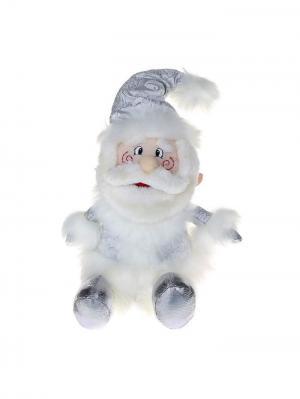 Дед мороз, мягкая белая кружевная 27 см А М Дизайн. Цвет: черный, серебристый, светло-серый, серый меланж, красный, персиковый, белый
