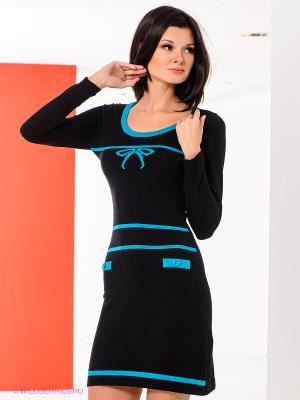 Платье Sparkle. Цвет: голубой, черный