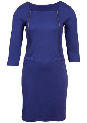 Платье Y.O.U.. Цвет: темно-синий